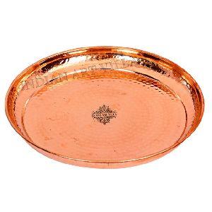 Copper Dinner Thali Plate