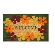 Flower Print Anti-slip Rubber Door Mat