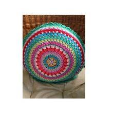Woolen Aari Embroidered Cushion
