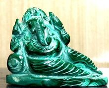 Natural Malachite Premium Stone Lord Ganesha Statue