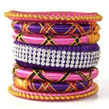 Colourful Silk Thread Bangle