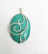 Gemstone Turquoise Gold Pendent