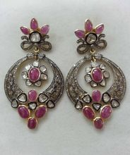Ruby Gemstone Diamond Polki Earring