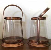 metal and glass lanterns
