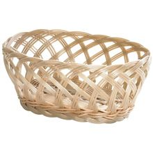 Oval Shape Bamboo Wicker Basket