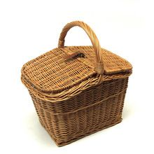 Wooden Bamboo And Wicker Basket