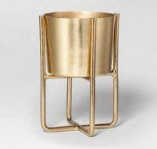Brass Plated Planter