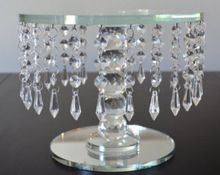 Crystal One Tier Cake Plates