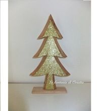 Christmas Wooden Gold Tree