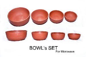 Mud Round Bowl Set