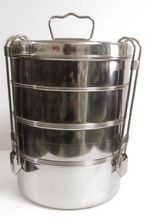 Stainless Steel Jumbo Clip Tiffin
