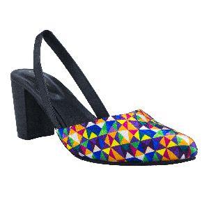 EMBER multi coloured block pump women sandal