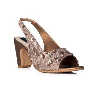 MIRA dark gold block pump shoes