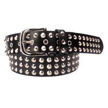 Metal Rivet Studded Leather Buckle Belts