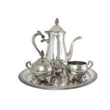 Silver Plated Tea Pot Coffee Pot Set