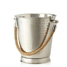 Stainless Steel Ice Bucket With Rope Handle
