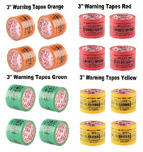 Orange Self Adhesive Warning Printed Tapes