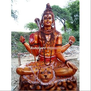 Fibre Brown Shiv Ji Statue