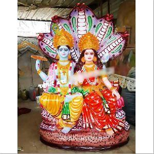 Fibre Vishnu Laxmi Statue