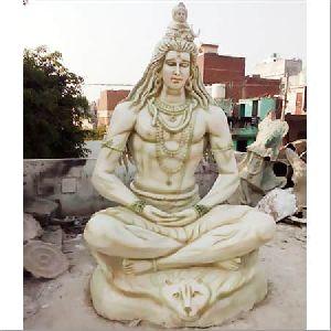 Fibre White Shiv Ji Statue