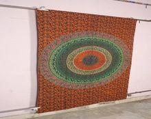 Handmade Design Round Tapestry Cotton Yoga Mat