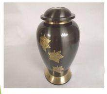 Brass Dark Brown Funeral Urn