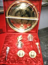 Brass Polished Puja Thali Gift Set