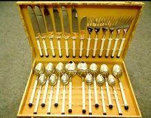 Brass Silver Plated Cute Cutlery Set