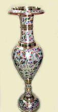 Colored Brass Flower Vase