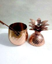 Copper Pineapple Drinking Vessel