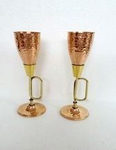 Goblet Cup With Brass Stem