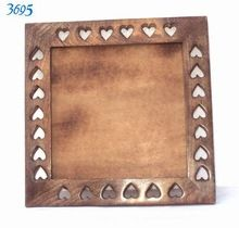 Hand Crafted Heart Cut Decorative Wood Mirror Frame