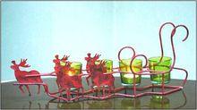 Metal Reindeer Tea Light Candle Holders