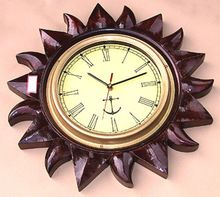 Wood Carved Wall Clock