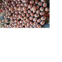 Handmade Chevron Glass Beads
