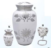 Flower Brass Cremation Urn