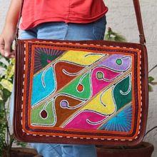 Embroidery Messenger Bag