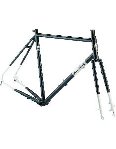 All-City Macho Man Disc Frameset 61cm, Sparkle Black/White