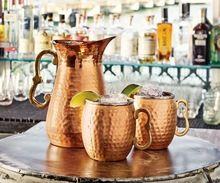 Brass Handle Copper Water Jug