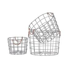 Silver Finish Metal Wire Round Nesting Baskets