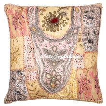 Decorative Sari Throw Pillow Cover