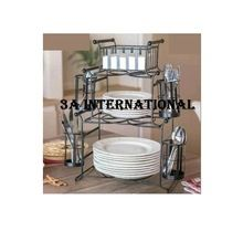 Double Tiers Kitchen Plate Rack