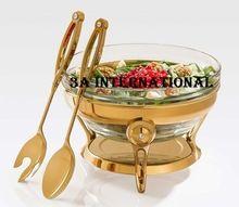 Golden Glass Serving Dish Wholesale