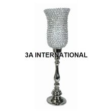 Iron and crystal wedding candle holder