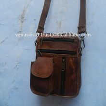 leather unisex cross body sling bag