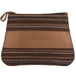 Jute Fabric Pouch Multipurpose Case with Zipper
