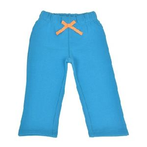 Turquoise Teddy Patch Cotton Poly Brushed Fleece Pants