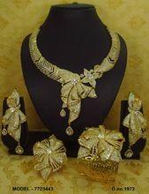 African gold american diamond combo set