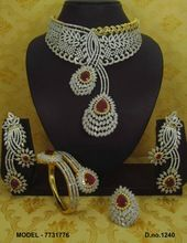 american diamond jewelry set
