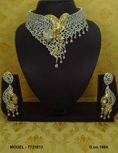Bridal american diamond necklace s